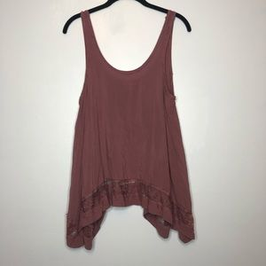 Free People Intimates Maroon Flowy Tank Size XS